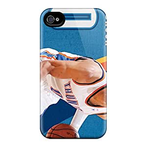 Iphone 4/4s TKR612kQmM Allow Personal Design Fashion Oklahoma City Thunder Pattern Scratch Resistant Hard Phone Cover -LauraAdamicska