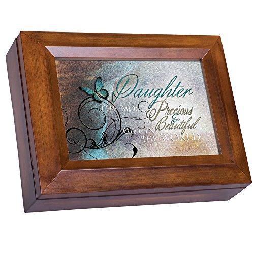 Daughter Precious & Beautiful Woodgrain Digital Keepsake Music Box Plays I Can Only Imagine (Daughter Box Music Precious)