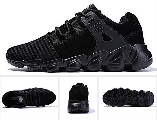De Malla Transpirable Zapatos Senderismo Deportes Para Correr Montaña  Zapatillas Y Libre Running f Asfalto Casuales Aire Hombre Iiiis Negro  Deportivas ... a5664b4b98b72