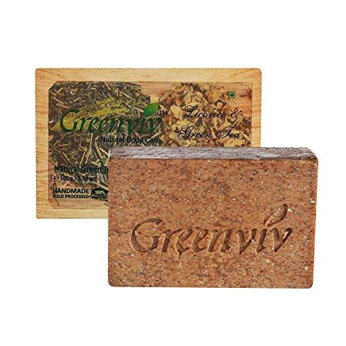 - Greenviv Natural Cold Processed Soap, Green Tea, 100Gm