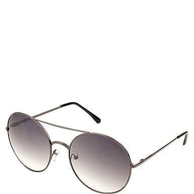 af05f697d1b2 SW Global Eyewear Aria Double Bridge Round Fashion Sunglasses (Black)