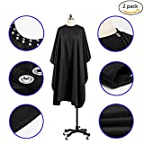 Coobi Professional Hair Salon Nylon Cape with Snap Closure 2 Pack