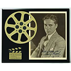 Charlie Chaplin Limited Edition Reproduction Autographed Movie Reel Display K1