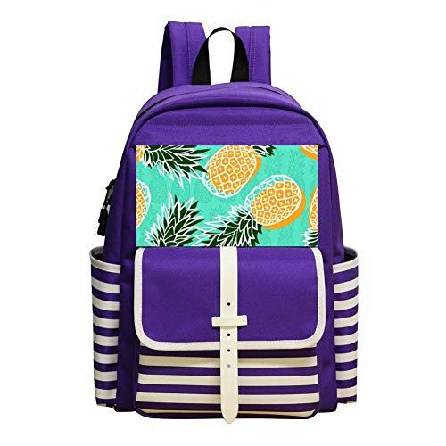 Pineapple Design Backpack School Bags Student Book Bag Daypack For -