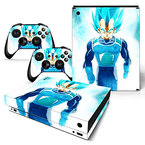 EBTY-Dreams Inc. - Microsoft Xbox One X Scorpio - Dragon Ball Z (DBZ) Anime Vegeta Saiyan Vinyl Skin Sticker Decal Protector (Best Dragon Ball Z Game For Wii)