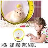 Love-Hamster-Wheel-Quiet-55-67-83-Inches-Hamster-Gerbil-Rat-Silent-Spinner-Exercise-Wheel-Durable-Thick-PP-Disc-and-Stable-Stand-with-Removable-Shaft-Comes-In-Blue-or-Yellow