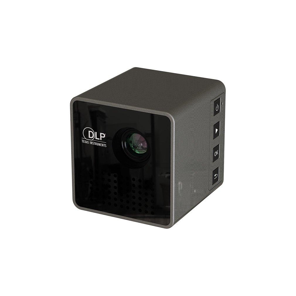 Mini Würfel Cube DLP Beamer mit Wifi, tragbarer LED Taschen Beamer Zum mitnehmen.30.000 Stunden LED Lebenszeit, Unterstützt Android und IOS und PC (A) OFFLOAT