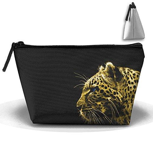 Travel Cosmetic Bags Black Spot Leopard Small Makeup Bag Multifunction Pouch Cosmetic Handbag Toiletries Organizer Bag for Women Girl -