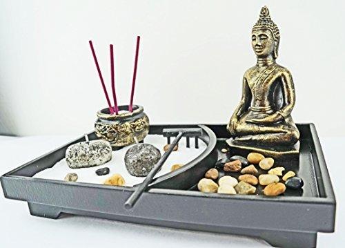 Tabletop-Incense-Burner-Gifts-Decor-Zen-Garden-Kit-with-Statue-Candle-Holder-USA-SELLER-Buddha-big