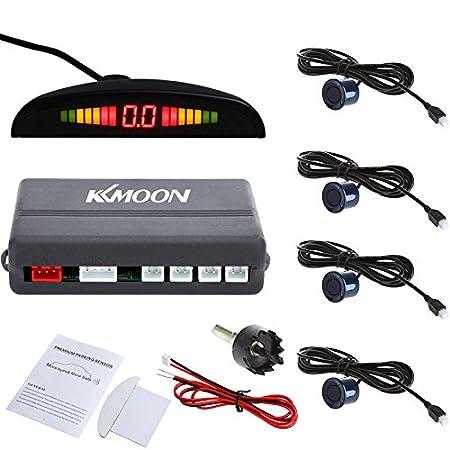 KKmoon Detector de Radar Sistema de Aparcamiento con Sensores de Coche