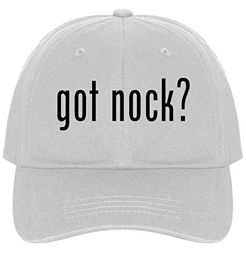 The Town Butler got Nock? - A Nice Comfortable Adjustable Dad Hat Cap, White ()