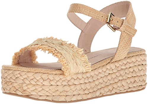 Chinese Laundry Women's ZIBA Espadrille Wedge Sandal, Natural Straw, 9 M US