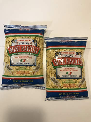 Trader Joe's - Italian Mini Ravioli With Cheese Filling NET WT.16 OZ (1 LB) 454g - - Ravioli Boyardee Mini Chef