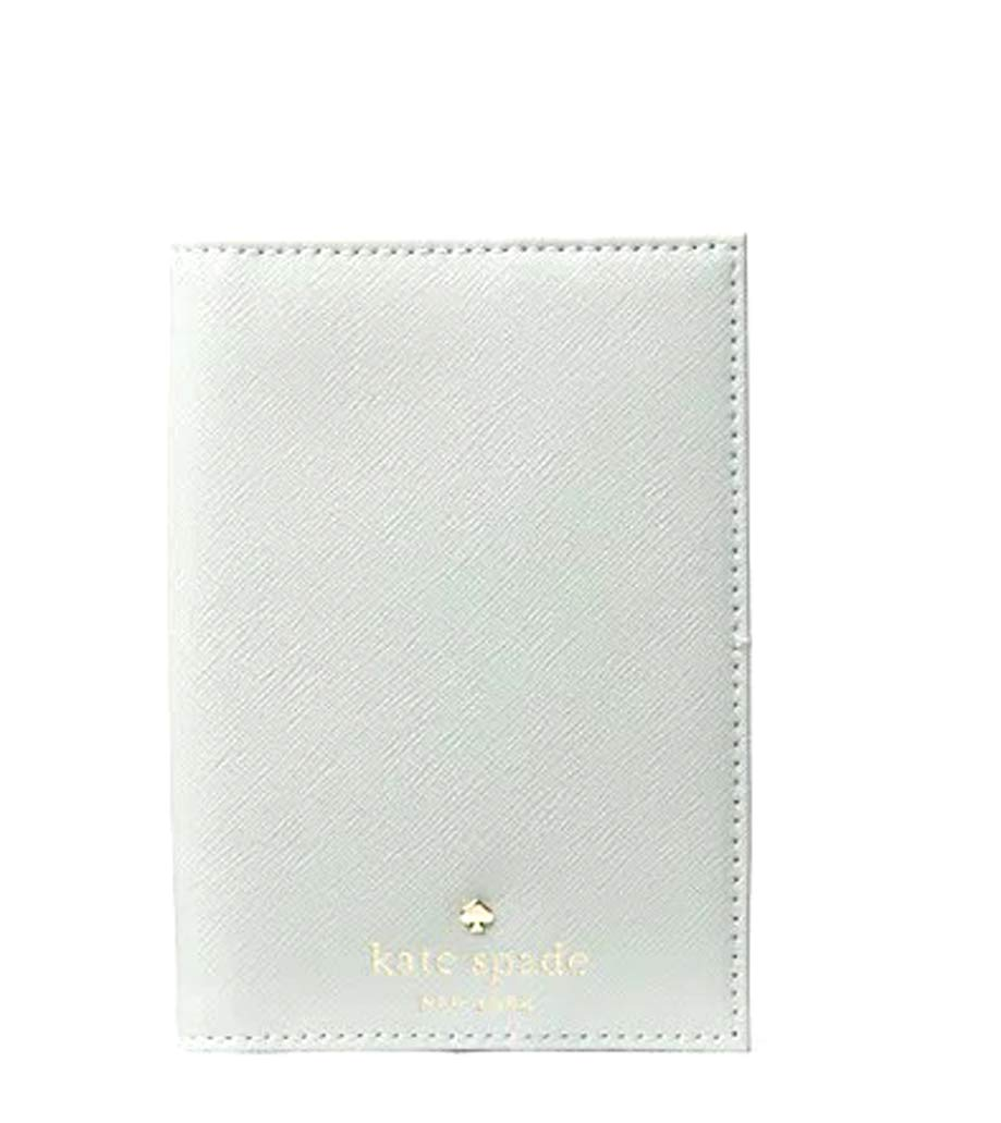 Kate Spade Mikas Pond Leather Passport Holder (Misty Mint) by Kate Spade New York