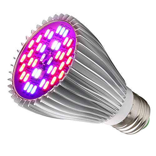 LED Grow Light Bulb,30W Full Spectrum Grow Bulbs for Indoor Plants Hydroponic,Plant Lights Bulbs for Succulent Flowers Tobacco Vegetable Seedling(E26/E27)