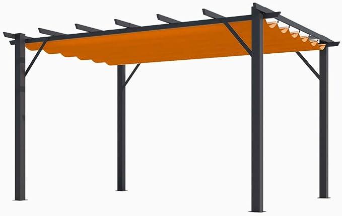 HABRITA Pérgola 100% Aluminio Color Óxido 4,00 x 3,00 x 2,30 ...