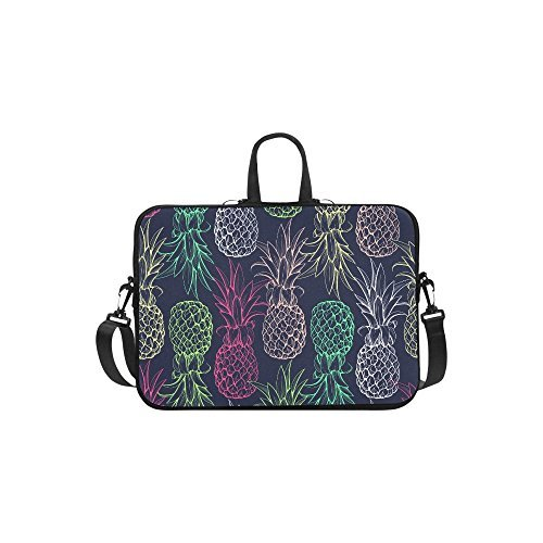 """InterestPrint Classic Personalized Fruit Pineapple Seamless Pattern Colorful 13"""" - 13.3""""/Macbook Pro Air 13 Inch Laptop Sleeve Case Bags Skin Cover for Lenovo"""