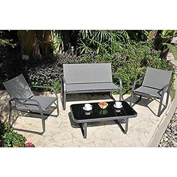 Générique MACADAMIA - Juego de jardín, 4 sillones y mesa ...