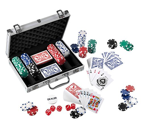 FUN TRADING 4315 - Pokerkoffer 300 Chips, Lernspielzeug, 4.0 g