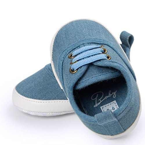 ❆HUHU833 Kinder Mode Baby Schuhe Soft Sole, Schuhe Baby Kleinkind Weiche Anti Rutsch Turnschuhe beiläufige Schuhe Junge (0~18 Month) Blau