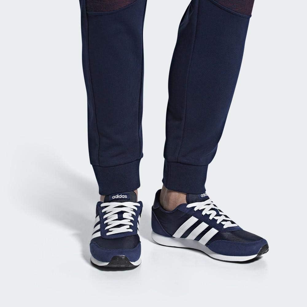 adidas V Racer 2.0, Zapatillas de Running para Hombre Azul Dark Blue Ftwr White Ftwr White Dark Blue Ftwr White Ftwr White