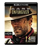 Unforgiven (1992) (4K Ultra HD)Clint Eastwood, Gene Hackman, Morgan Freeman and Richard Harris star in his unsparing Western saga of a man who cannot escape his violent destiny. Heroes and legends rise and fall on the harsh American frontier in Unfor...