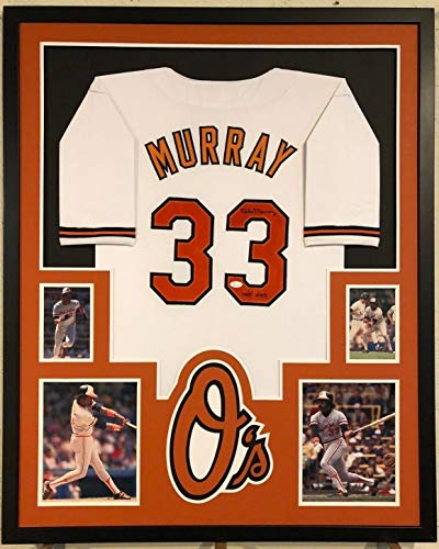 - FRAMED BALTIMORE ORIOLES EDDIE MURRAY AUTOGRAPHED SIGNED INSCRIBE JERSEY JSA COA
