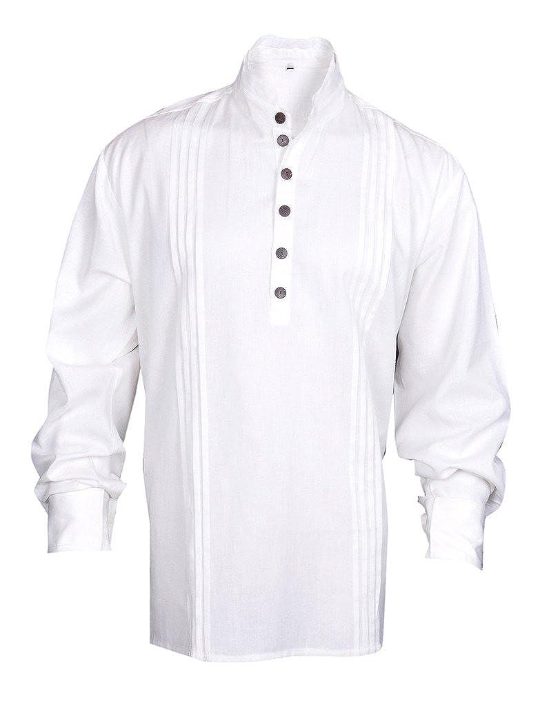 MyGothicShop Camisa del Pirata de los Hombres del ...