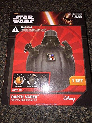 Star Wars Darth Vader Halloween Pumpkin Push In Decorating Kit No Carve New]()