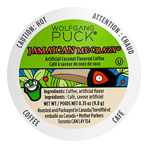 Wolfgang Puck Single Serve Coffee Capsules, Jamaican Me Crazy, 18 -