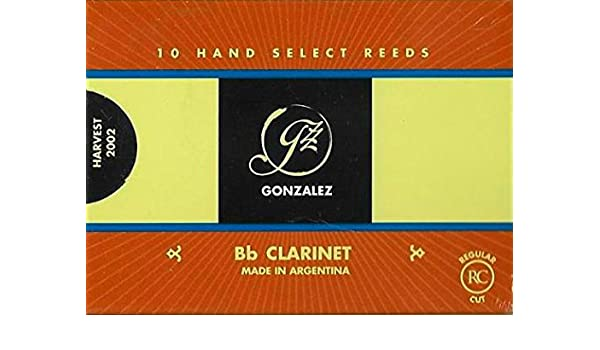3-1//2 Box of 10 Strength Gonzalez CLARG35 Gonzalez Regular Cut Bb Clarinet Reeds