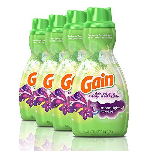 Gain Liquid Fabric Softener, Moonlight Breeze, 41 fl oz, 48 Loads (Pack of 4)