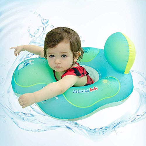 Floaties for Babies, Infant Neck Free Swimming Ring for Bathtub Pool (Small (3-12 Months), Ring with Back Cushion)
