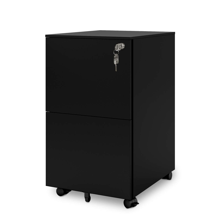 Magnificent Devaise Mobile Filing Cabinet Pedestal Under Desk With 2 Drawer For A4 All Steel Lockable Black Download Free Architecture Designs Embacsunscenecom