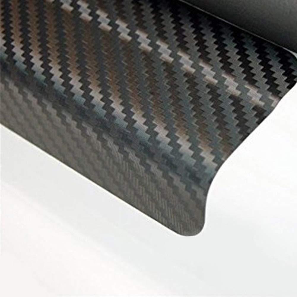 FeiyanfyQ 4Pcs//Set 3D Carbon Fiber Car Door Sill Scuff Cover Anti-Scratch Film Sticker Orange