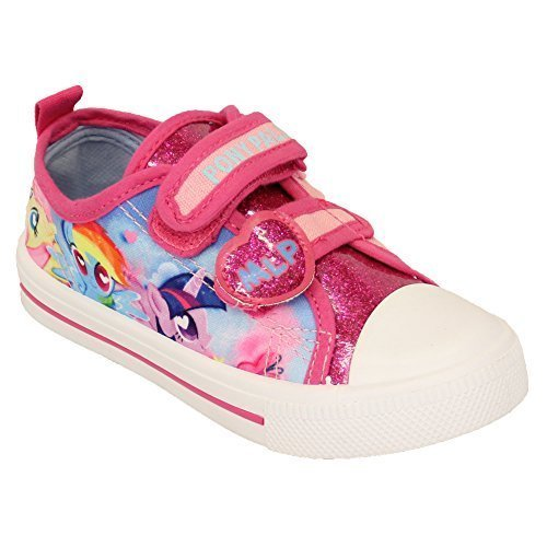 Niño Niña Ana Elsa Patrulla Canina Lona MY Little Pony Zapatos Zapatillas Rosa - mlplynmouth, UK 10/EU 28 - Pre School: Amazon.es: Zapatos y complementos