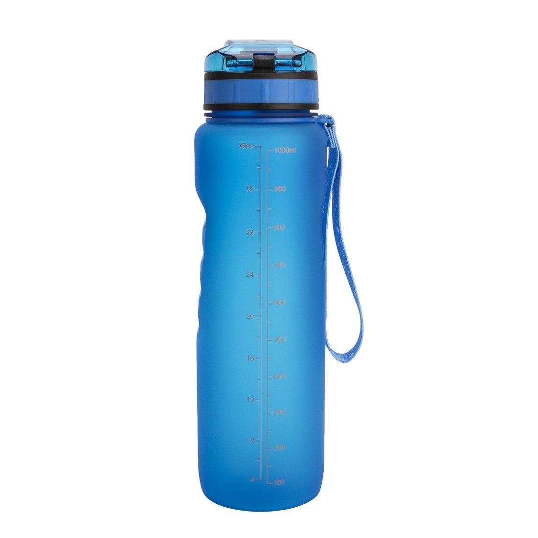 Travel Water Bottle Wide Mouth Flip Top Lid Water Jug BPA Free 22 oz // 28 oz // 36 oz Toplor Big Capacity Sports Fitness Water Bottle Portable Travel Water Bottle