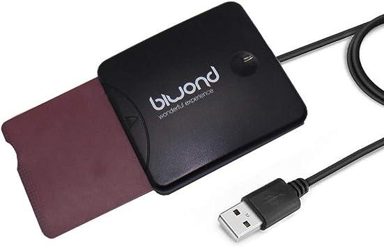 BIWOND Lector DNI 3.0 y Tarjetas criptográficas BW0028 (USB, Compatible con DNI 3.0, Sopo rta: Windows XP / Vista / Win7 / Win8 / Win10 / Linux 2.4 o ...