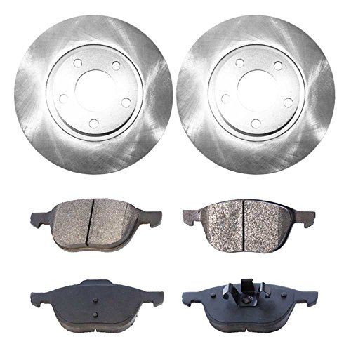 - Prime Choice Auto Parts RSCD41365-41365-1044-2-4 4 Front Ceramic Brake Pads and 2 Front Brake Rotors