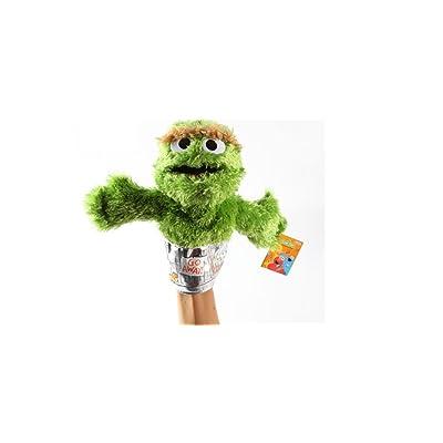 "Sesame Street Oscar Grouch Plush Puppet 9"": Toys & Games"