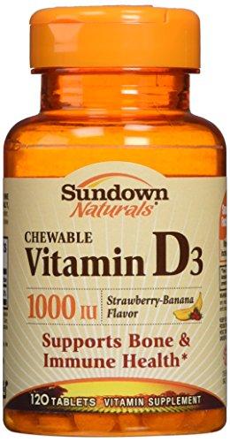Iu 120 Chewable (Sundown Naturals Vitamin D3 1000 Iu, 120 Chewable Tablets)