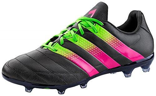 Adidas ACE 16.2 FG/AG LEATHER CBLACK/SHOPIN/SGREEN