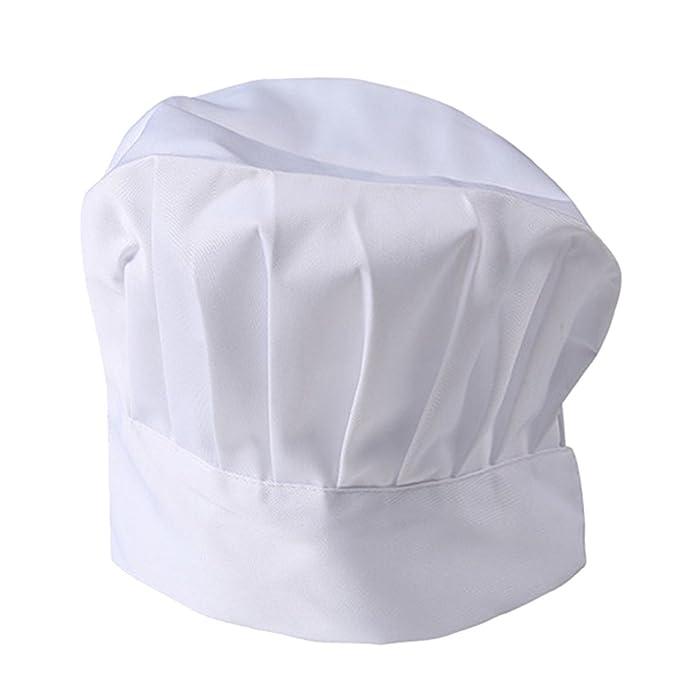 NiSengs Unisex Cappello da Cuoco Design Pieghettato Abbigliamento da Cucina  Chef Uniformi Bianca L cd614ad4d7e2