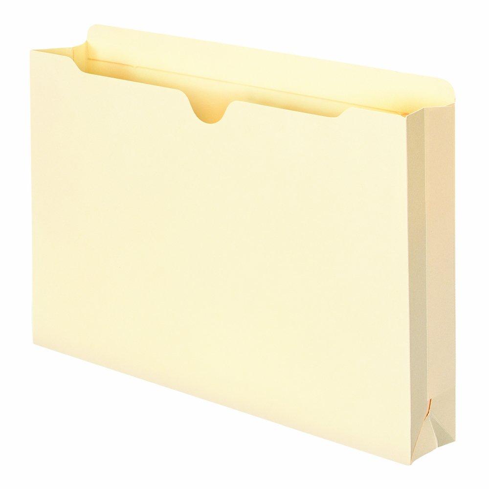 Smead File Jacket, Reinforced Straight-Cut Tab, 2'' Expansion, Legal Size, Manila, 50 per Box (76560)