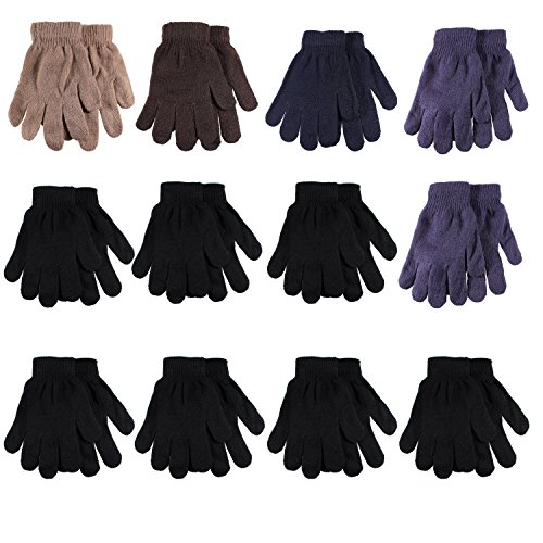 Gelante Adult Winter Knitted Magic Gloves Wholesale Lot 12 Pairs 9901-Assorted-12 Pairs