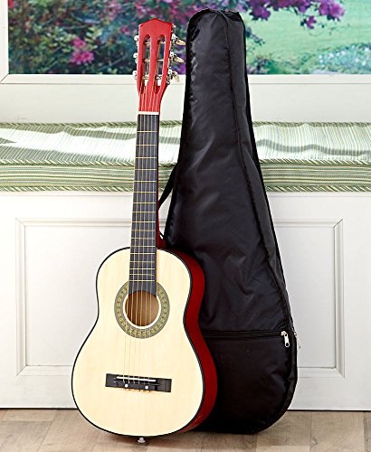 Kids Wood Guitar W/Case-Black by The Lakeside Collection