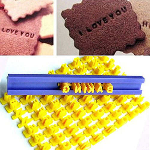 ^YW^^ ❤ Slicer Cutting , New Alphabet Letter Number Cake Mould Biscuit Cookie Press Stamp -