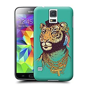 Unique Phone Case Mr. Tiger Art Print Hard Cover for samsung galaxy s5 cases-buythecase