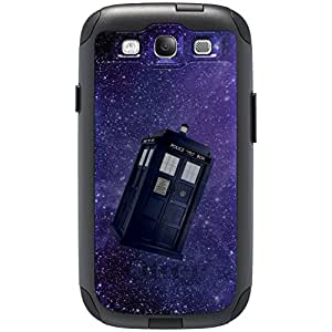 CUSTOM Black OtterBox Commuter Series Case for Samsung Galaxy S3 - TARDIS Floating in Space