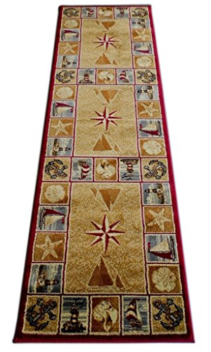 Amazon Com Masada Rugs Nature Area Rug Runner Nautical